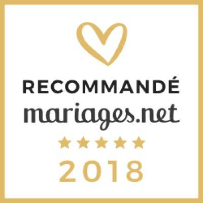 Recommandé mariage.net 2018 !